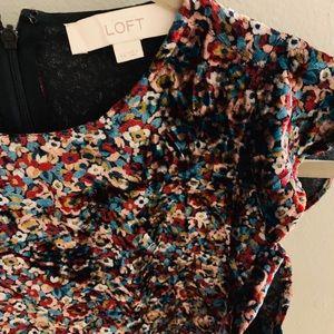 Loft velvet floral dress size XS